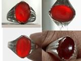 أحسن خاتم عقيق يمانى كبدي طبيعي - صورة مصغرة