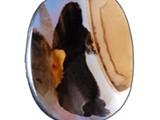 عقيق يمانى نادر شكل امرأة واقفة كأنها تفتح باب - صورة مصغرة