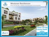 City Villa for sale Westown ResidenceBeverly Hills Sheikh Zayed City - صورة مصغرة