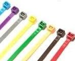احزمه كابلات افيز بلاستيك cable tie سيل بلاستيك مسريل ومرقم - صورة مصغرة