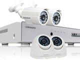 عرض 4 كاميرات مع الجهاز شامل الأسلاك - صورة مصغرة