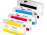 مملوءمجموعة خراطيش حبر لطابعات اتش بي 8100 8600 قابلة لاعادة التعبئة - صورة مصغرة