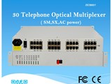 30 channel telephone over fiber optical mutliplexer - صورة مصغرة