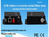 1 channel analog video with reverse data optical transceiver