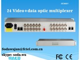 24 video data ethernet E1 V35 over fiber cable transmitter receiver - صورة مصغرة