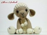 Sweet Sheep دمية كروشيه
