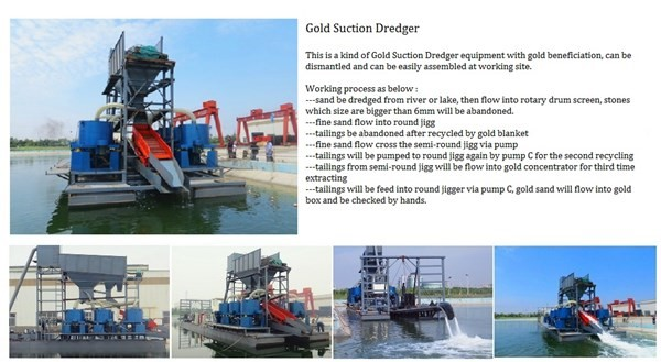 Gold suction dredger